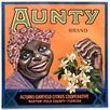 vintage fruit crate labels Aunty Brand Alturas-Garfield Citrus Cooperative