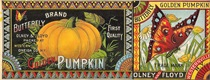 vintage fruit crate labels butterfly pumpkin olney and floyd