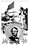 Abraham Lincoln July 4th coloring page