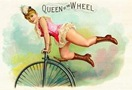free vintage clipart queen of the wheel