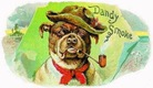 free vintage dog clip art dandy smoke dog with hat smoking pipe