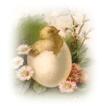 free vintage Easter clip art little girl bonnet baskets eggs bunny