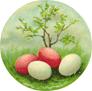 free vintage Easter eggs clip art