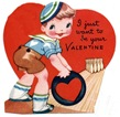 free vintage kids valentine cards little boy bowling with heart bowling ball
