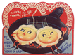 free vintage kids valentines cards two fried eggs in pan