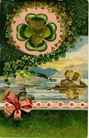 free vintage Saint Patricks Day greeting card erin go bragh killarney Irish shamrock