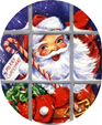 free vintage santa clip art candy cane window snow