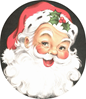 free vintage santa clipart jolly with holly