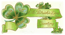 free vintage St Patricks Day greeting clip art