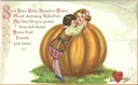 free vintage valentines card peter peter pumpkin eater couple