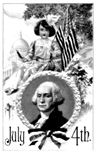 George Washington July 4th coloring page