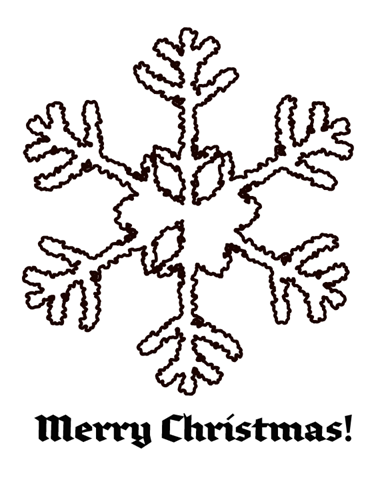 snowflake 2 coloring page - Coloring Christmas Cards 2