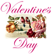 Valentines Day clip art with lovebirds painting