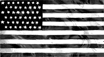 Vintage American Flag Clip Art Black And White