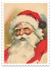 vintage Santa Claus postage stamp clip art1