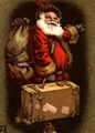 vintage santa clip art with suitcase
