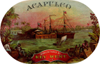 vintage sea scene key west acapulco cigar label