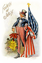 vintage Uncle Sam patriotic 4th of July clip art