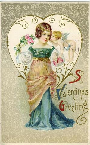 Free Vintage Valentines Cards Pretty Women Vintage