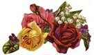vintage-victorian-red-yellow-pink-roses
