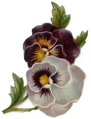 Free Vintage Flowers Clip Art - Vintage Holiday Crafts