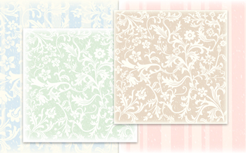 Free Vintage Scrapbooking Paper: Victorian Scroll Work and Stripes