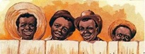 free vintage children clip art four african american boys