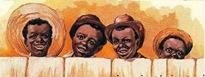 free vintage children clip art four african american boys
