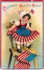 vintage-American-flag-little-girl-Columbia