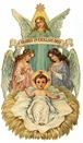 free vintage Christmas images -- angels baby Jesus