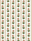 vintage flowers scrapbook paper pink roses and stripes