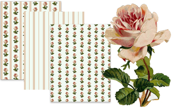 Free Vintage Pink Rose Scrapbook Paper