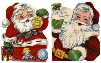 Free Vintage Santa Claus Kids Christmas Cards