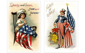 Free Patriotic Vintage July 4th Clip Art