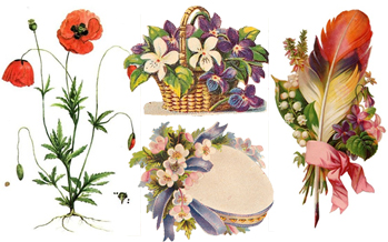 Free Vintage Flowers Clip Art - Vintage Holiday Crafts