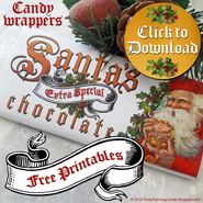 vintage Santa printable candy wrapper